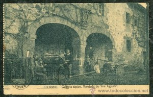 This postcard shows the Basque town of Elorrio as it was in the early 1930s, before the outbreak of the war.