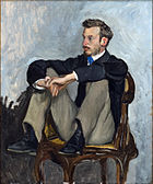 Portrait of Renoir by Frédéric Bazille, 1867