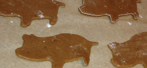 gingerbread pigs uncooked