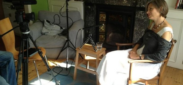 Amy' s pic of iBook filming